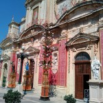 Один из красивейших храмов в городе Мдина, Мальта