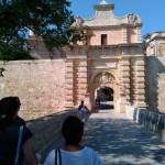Вид на главные крепостные ворота г. Мдина (Мальта)