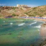 Пляж Għajn Tuffieha (Tuffieha Bay) на Мальте