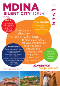 Mdina Silent City Tour flyer